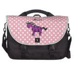 Cebra púrpura conocida personalizada bolsas para portatil