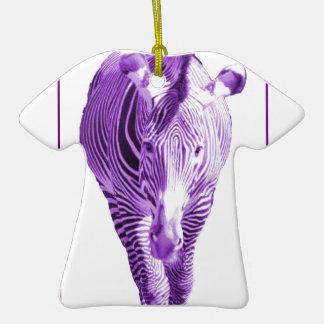 Cebra púrpura adorno de cerámica en forma de playera