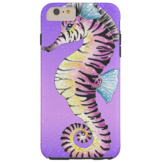 Cebra púrpura del Seahorse Funda Para iPhone 6 Plus Tough