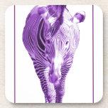 Cebra púrpura posavasos