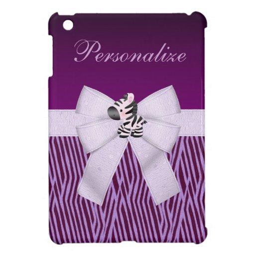 Cebra, rayas animales púrpuras y arco impreso