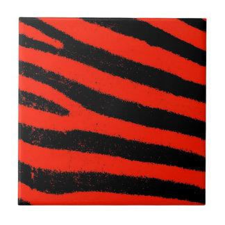 Cebra roja azulejo cuadrado pequeño