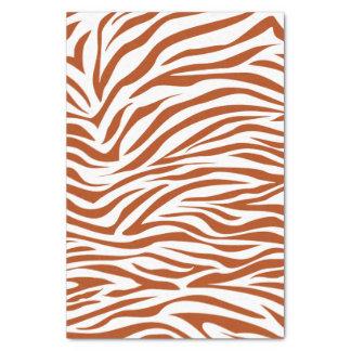 Cebra roja del safari del moho papel de seda pequeño