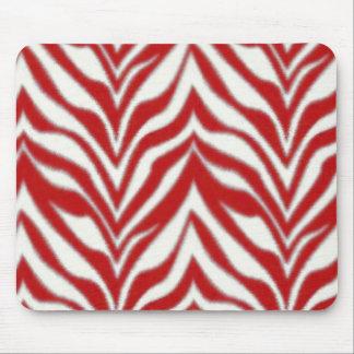 Cebra roja Mousepad Tapetes De Raton