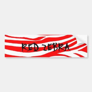 Cebra roja pegatina para auto