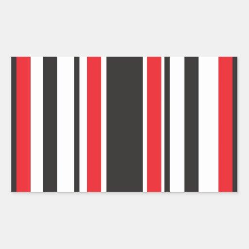 Cebra roja pegatina rectangular