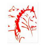 Cebra roja tarjeta postal
