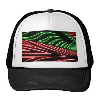 Cebra roja verde de neón gorras