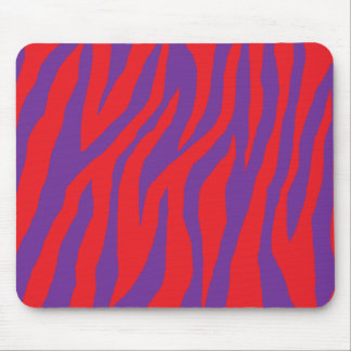 Cebra roja y púrpura salvaje alfombrillas de raton