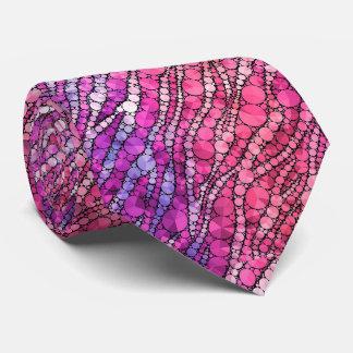Cebra rosada Bling Corbatas Personalizadas