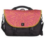 Cebra rosada bolsa para ordenador