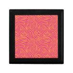 Cebra rosada caja de regalo