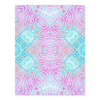 Cebra rosada de la turquesa membretes personalizados