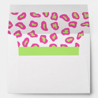 Cebra rosada, del blanco y de la verde lima y piel sobres