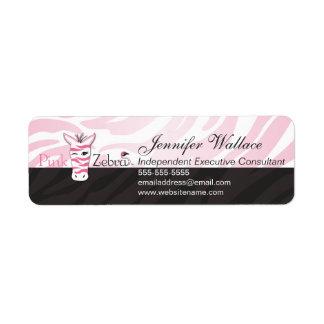 Cebra rosada etiquetas de remite