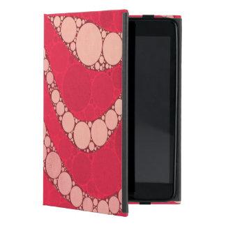 Cebra rosada fluorescente del moreno iPad mini carcasa