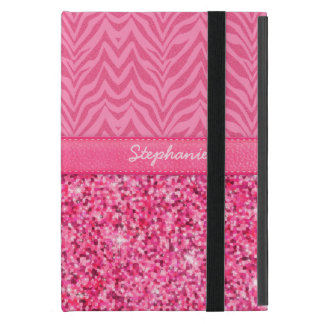 Cebra rosada glamorosa iPad mini carcasas