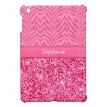 Cebra rosada glamorosa iPad mini protector