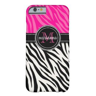 Cebra rosada negra femenina moderna personalizada