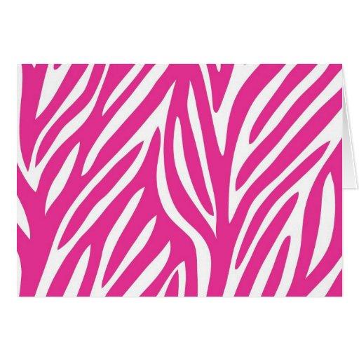 Cebra rosada tarjeta de felicitación