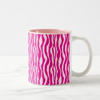 Cebra rosada taza de café de dos colores