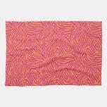 Cebra rosada toallas