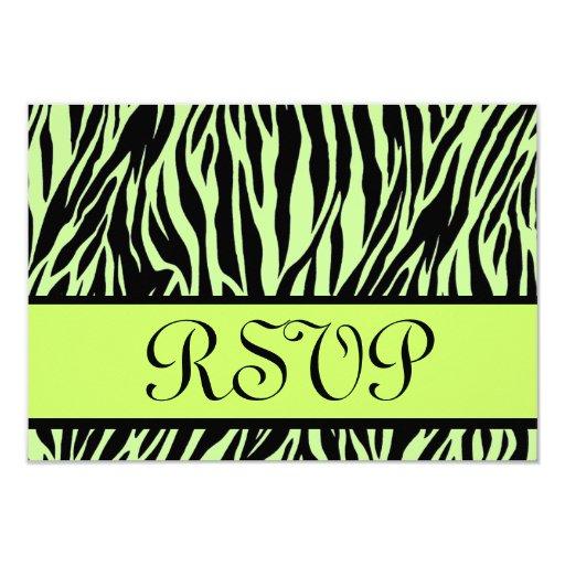 """Cebra RSVP que casa la tarjeta de la respuesta Invitación 3.5"""" X 5"""""""