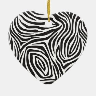 Cebra Stro [es Adorno Navideño De Cerámica En Forma De Corazón