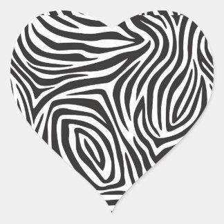 Cebra Stro [es Pegatina En Forma De Corazón