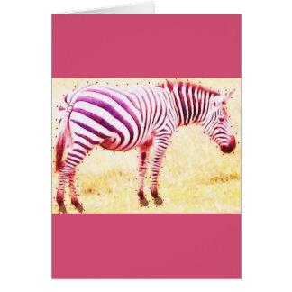 cebra tarjeta de felicitación