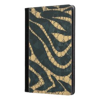 Cebra texturizada esmeralda Bling del oro