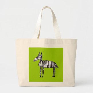 Cebra - verde bolsa tela grande