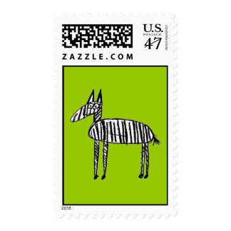 Cebra - verde sello postal