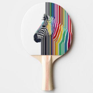 cebra vibrante colorida de moda impresionante de l pala de ping pong