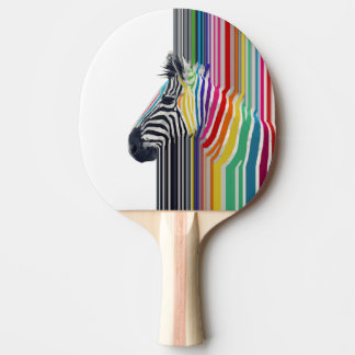 cebra vibrante colorida de moda impresionante de l pala de tenis de mesa