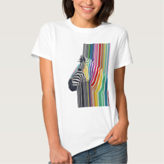 cebra vibrante colorida de moda impresionante de poleras