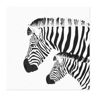 Cebra y bebé impresión en lienzo