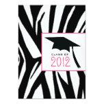 Cebra y clase rosada de la invitación 2012 de la invitación 12,7 x 17,8 cm