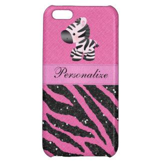 Cebra y falso estampado de animales rosado y negro