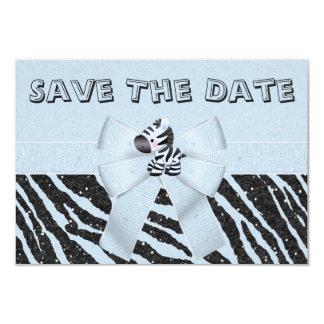 Cebra y reserva impresa de la fiesta de bienvenida invitación 8,9 x 12,7 cm