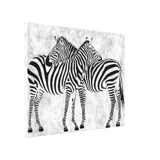 Cebras abstractas impresion en lona