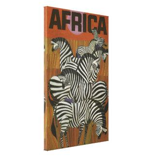 Cebras africanas lienzo envuelto para galerías