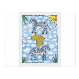 CEBRAS de AFRIKA de Ruth I. Rubin Postal