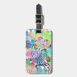 Cebras del arco iris - etiqueta del equipaje