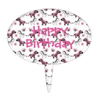 Cebras del cumpleaños de Childs Decoración Para Tarta