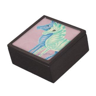 Cebras en colores pastel femeninas con las rayas caja de regalo de calidad