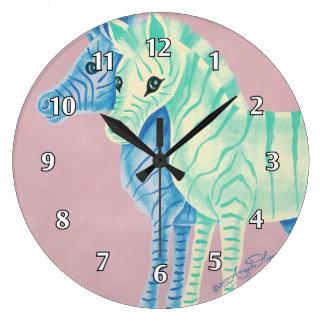 Cebras en colores pastel femeninas con las rayas reloj