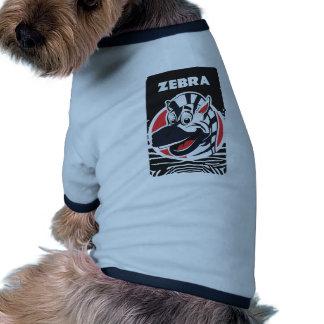 Cebras lindas divertidas camiseta con mangas para perro