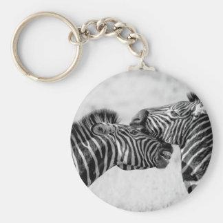 Cebras Llavero Redondo Tipo Pin