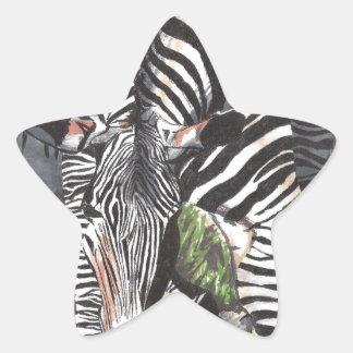 Cebras Pegatina En Forma De Estrella
